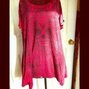 Preloved Plussize Sugar Skull Top